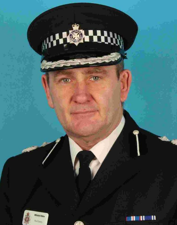 This Is Wiltshire: Chief Constable Patrick Geenty, who chased a shoplifter in Chippenham yesterday