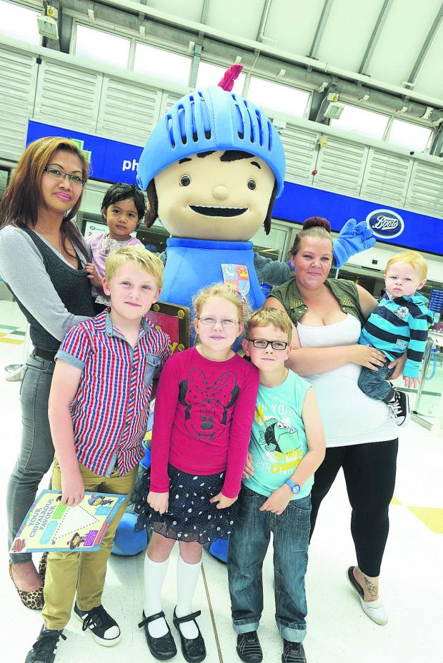 This Is Wiltshire: Mike the Knight meets some young fans at the Brunel Centre