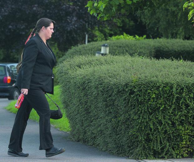 This Is Wiltshire: Claire Sharpe at court on Monday