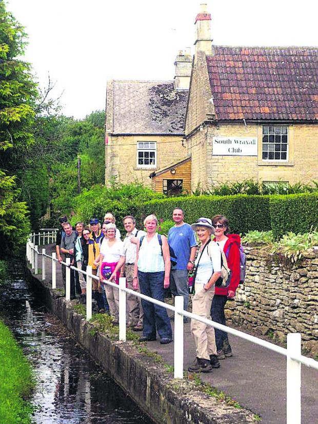 This Is Wiltshire: A group on a walk at last year's festival, in South Wraxall
