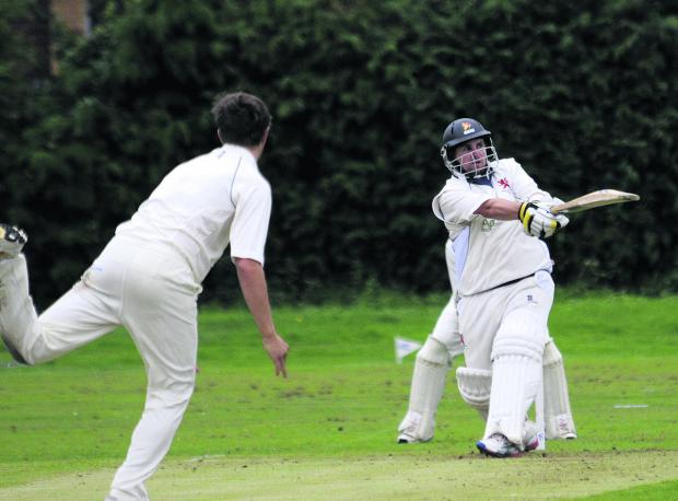 This Is Wiltshire: Burbage & Easton Royal's Michael Papps scored a century in his side's win over Winsley in the Wiltshire Division