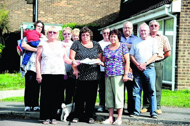 This Is Wiltshire: Residents in Liden opposed to the Tryon Close plan