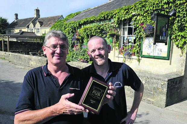 This Is Wiltshire: Landlord John Arundel and manager Pete Earing