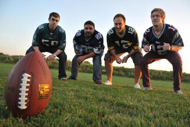 This Is Wiltshire: Storm players Dan Thorne, Dan Pour, Sam Mendoza and Sean Harper