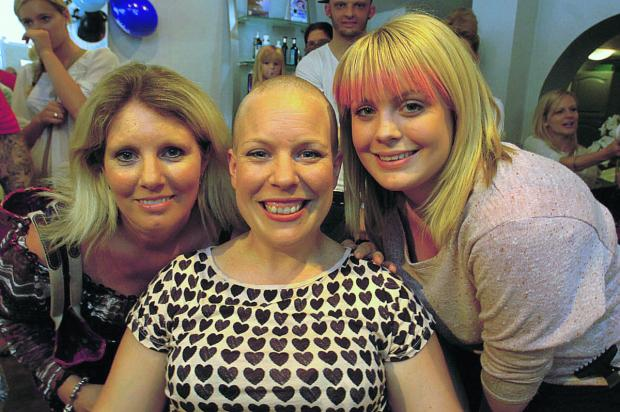 This Is Wiltshire: After, Emma Haines with her sister Heidi Hudd, left, and Chloe Hudd.