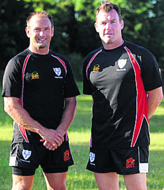 This Is Wiltshire: Dale Burn (left) with Chippenham head coach Danny Thomas