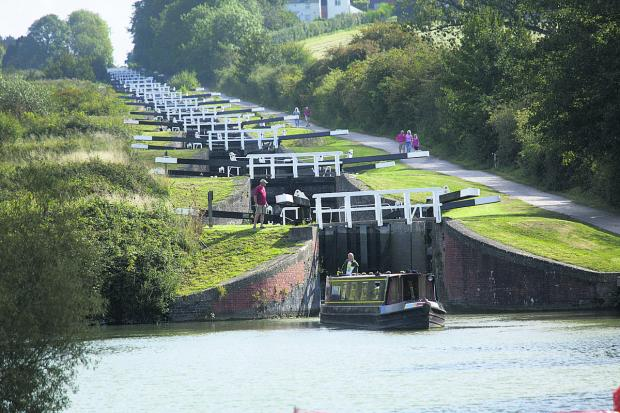 This Is Wiltshire: Caen Hill locks on the Kennet and Avon Canal