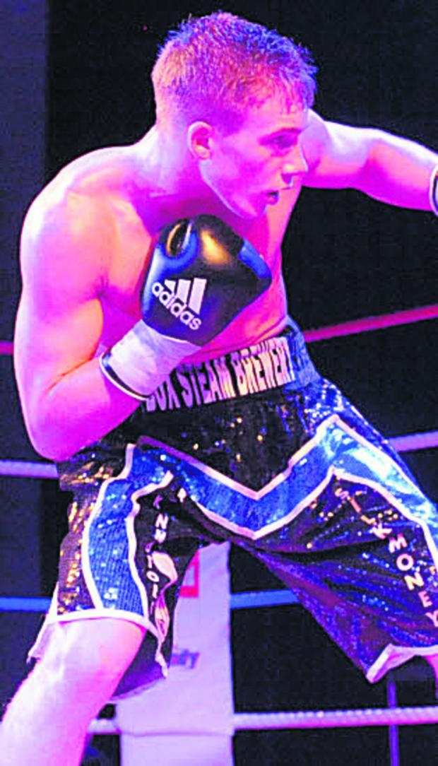 This Is Wiltshire: Nick Blackwell was in fine form against Terry Carruthers last night