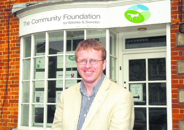 This Is Wiltshire: Jon Yates from the Community Foundation, who is encouraging people to contribute to the Grow A Tenner fund