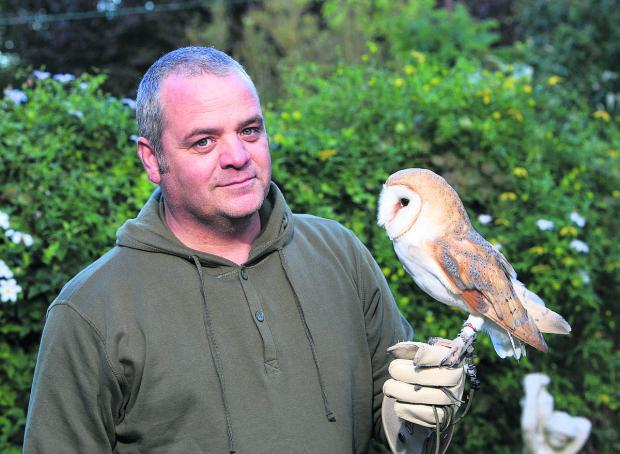 This Is Wiltshire: Darcy with owner Phil Voller of Wings Over Wiltshire