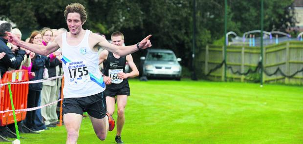 This Is Wiltshire: Sam Humphrey in last year's Chippenham Half Marathon