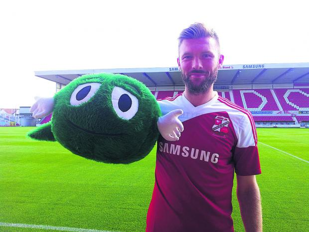This Is Wiltshire: Swindon Town Football Club, which has adopted the NSPCC as its charity for 2013, is backing the charity's campaign with new ChildLine Schools Service Ambassador for Swindon, club captain Darren Ward
