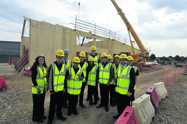 This Is Wiltshire: Students visit the Campus site last year