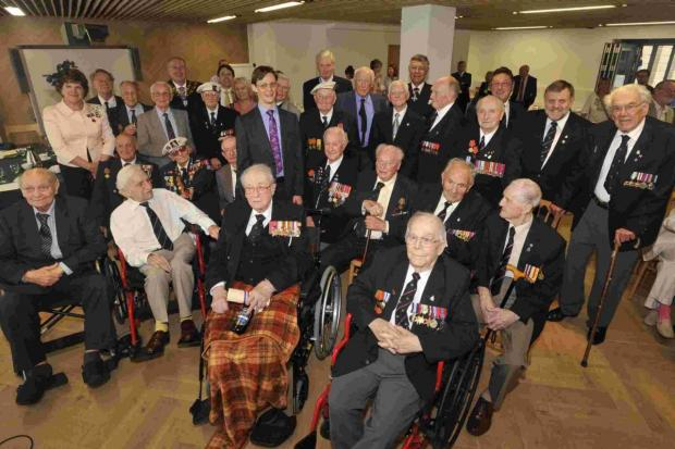 This Is Wiltshire: Wiltshire's Arctic Convoy veterans at last year's ceremony at County Hall