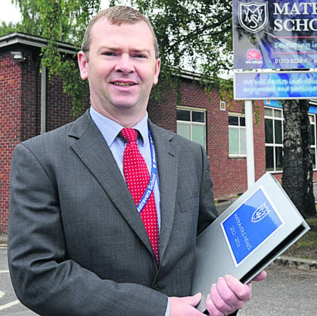 This Is Wiltshire: Dr Simon Riding, headteacher of Matravers School in Westbury
