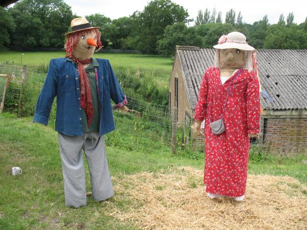 This Is Wiltshire: Edington's Disney-themed scarecrow trail for charity