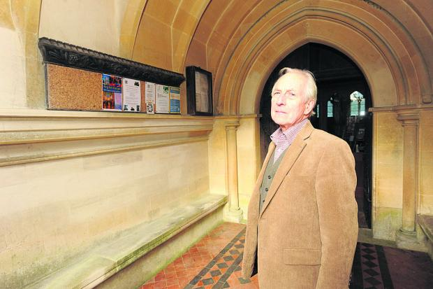 This Is Wiltshire: Church warden John Stidolph at St John's