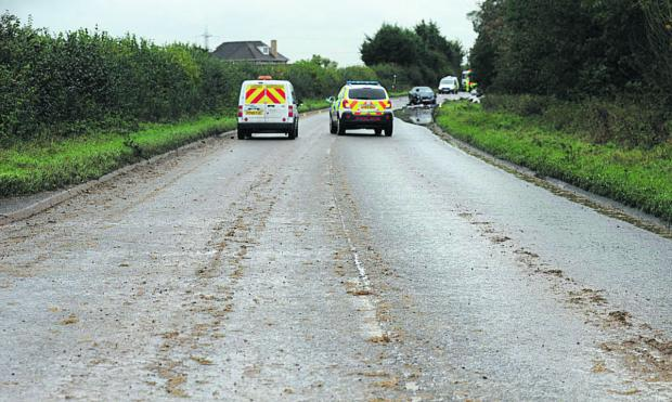 This Is Wiltshire: The A350 was closed for almost six hours following the crash