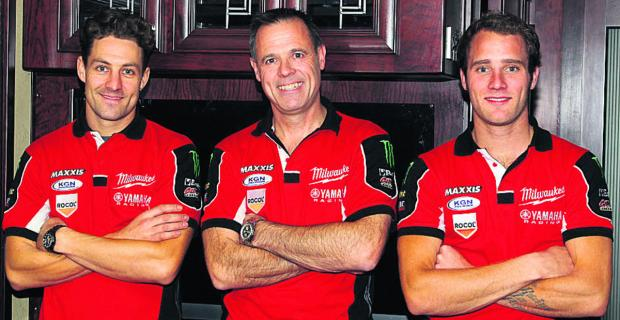 This Is Wiltshire: ommy Bridewell (right) with new teammate Josh Brookes (left) and team boss Shaun Muri