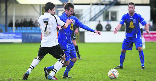 This Is Wiltshire: Chippenham Town's James Guthrie was on target against Bashley
