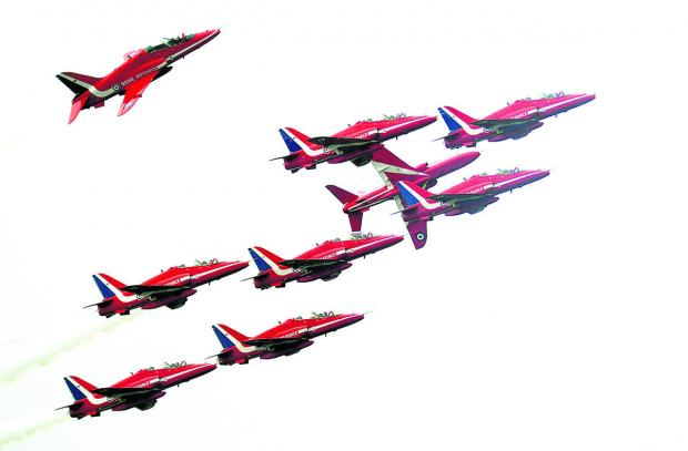 This Is Wiltshire: The Red Arrows are marking their 50th display season
