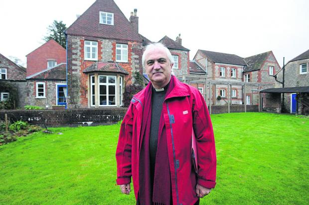 This Is Wiltshire: Canon Harold Stephens at Ivy House, Warminster