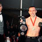 This Is Wiltshire: Richard Buskin after winning the lightweight UFW champion belt