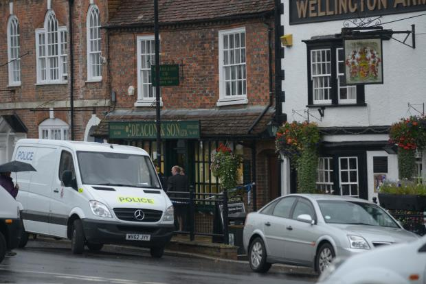 This Is Wiltshire: Deacon and Sons jewellers in Marlborough after the raid in in September