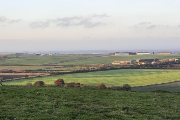 This Is Wiltshire: The proposed solar farm site in Wroughton