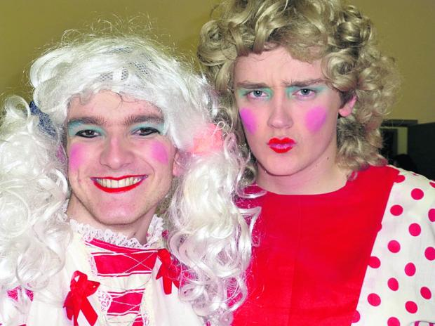 This Is Wiltshire: Ugly sisters Edd France, left, and Jake Seaward had the audience in stitches
