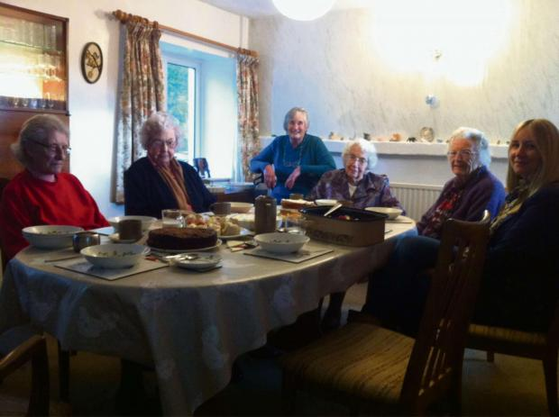 This Is Wiltshire: One of the tea parties organised by Contact the Elderly