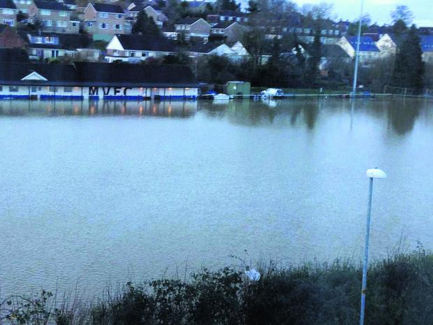 This Is Wiltshire: The flooded out Malmesbury Vics ground