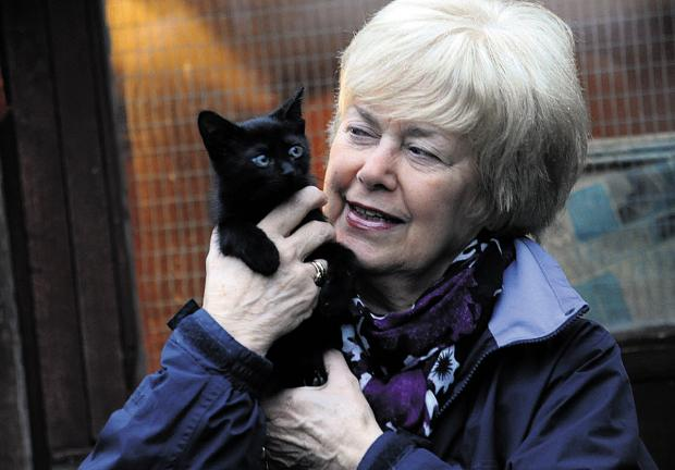 This Is Wiltshire: Mary Patterson with eight-week-old Dennis