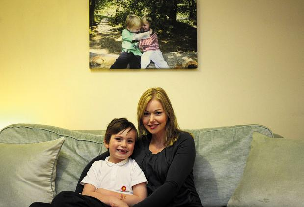 This Is Wiltshire: Niki Connor and her younger son Louis. She set up the Finlay Foundation following the death of her son Finlay, below					               (tk719) By thomas kelsey