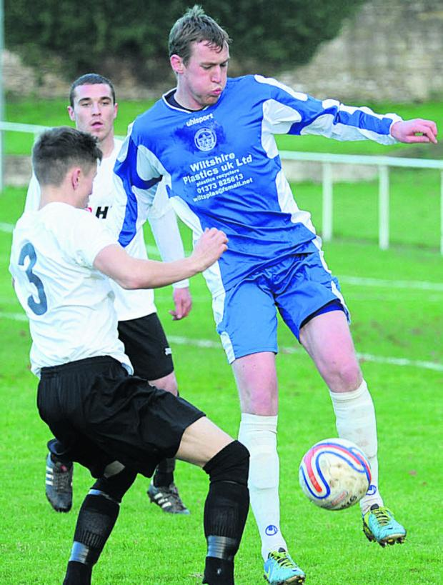 This Is Wiltshire: Dan King was on target in Bradford Town's win at Hallen on Tuesday