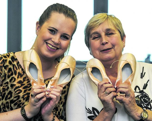 This Is Wiltshire: Mother and daughter Maxime and Cynthia Bell, of Pointe Perfection, one of 40 small business that have done well over the past six months