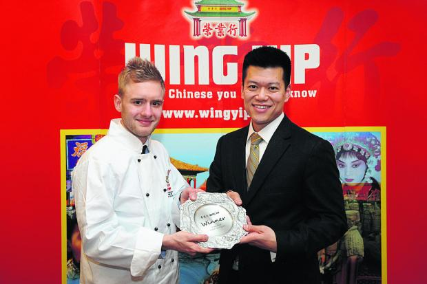 This Is Wiltshire: Joe Vinten above who won Young Chef Of The Year for Oriental cuisine