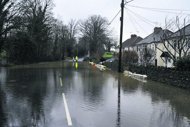 This Is Wiltshire: Bath Road, Bradford on Avon under water
