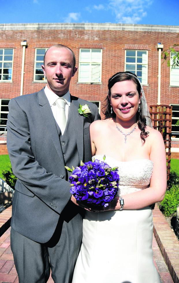 This Is Wiltshire: Laura and Phil Stevens, the first couple to marry at the register office at the Civic Offices