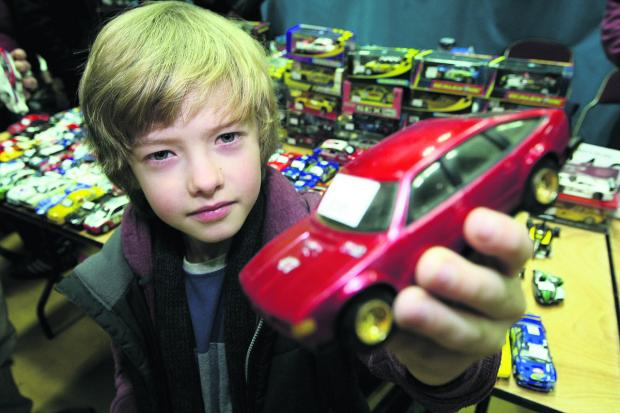 This Is Wiltshire: Ben Underwood, seven, looks at some of the cars on show. Picture: STUART HARRISON