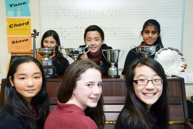 This Is Wiltshire: Trophy winners from last year's Swindon Music Festival