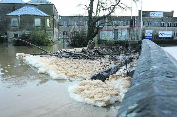 This Is Wiltshire: The scene at Staverton bridge, between Bradford on Avon and Trowbridge
