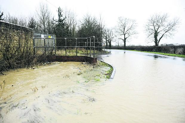 This Is Wiltshire: The scene at Tadpole Lane