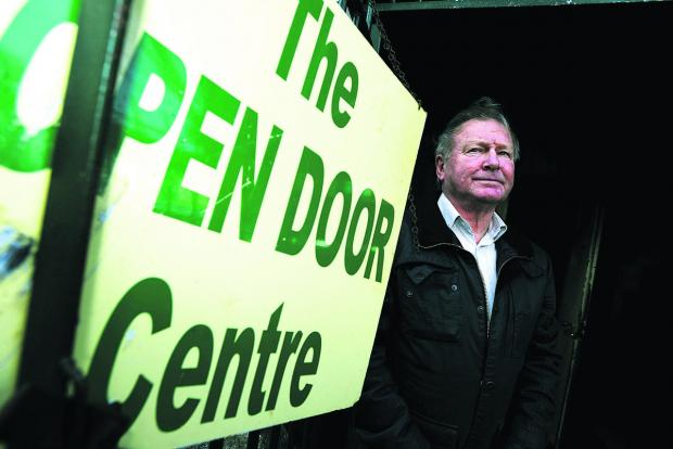 This Is Wiltshire: Chairman Gerry Meale  outside the Open Door Centre. Picture: THOMAS KELSEY