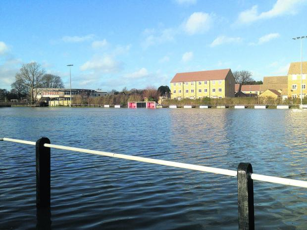 This Is Wiltshire: The Malmesbury Vics pitch looks more like a lake today