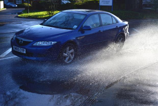 This Is Wiltshire: Flooding causing misery for drivers around the town