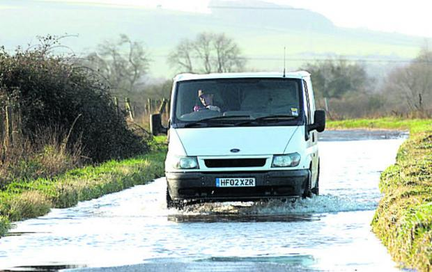 This Is Wiltshire: Flooding at All Cannings. The Environment Agency has warned that there could be more to come