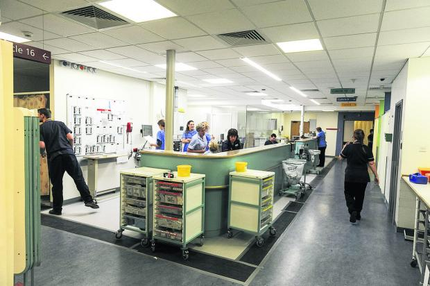 This Is Wiltshire: Pictured, Great Western Hospital's A&E ward. £20,000 of equipment at GWH can't be accounted for