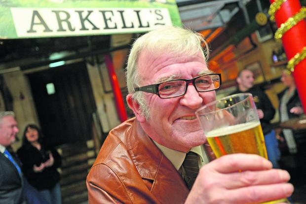 This Is Wiltshire: Trevor Blackford, who is retiring from Arkells brewery after 44 years service