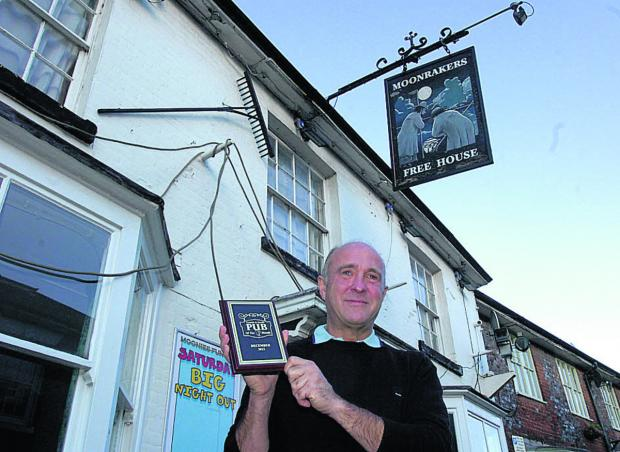 This Is Wiltshire: Jerry Kunkler with his Pub of the Month award